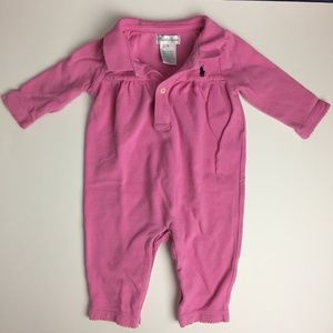 [3/$20] Ralph Lauren Pink Baby One-piece (6 m)
